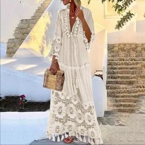 NIP ~ Beautiful Beige Bohemian Dress